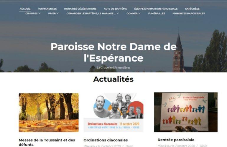 La paroisse Notre-Dame de l'Espérance lève le masque sur son nouveau site web et son logo !